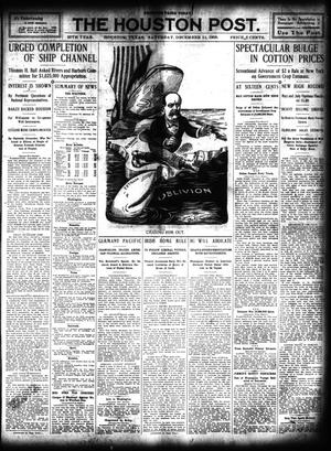 Primary view of object titled 'The Houston Post. (Houston, Tex.), Vol. 25, Ed. 1 Saturday, December 11, 1909'.