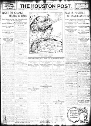 Primary view of object titled 'The Houston Post. (Houston, Tex.), Vol. 24, Ed. 1 Friday, October 9, 1908'.