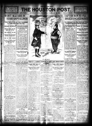 Primary view of object titled 'The Houston Post. (Houston, Tex.), Vol. 23, Ed. 1 Wednesday, February 19, 1908'.