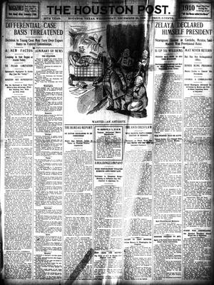 Primary view of object titled 'The Houston Post. (Houston, Tex.), Vol. 25, Ed. 1 Wednesday, December 29, 1909'.
