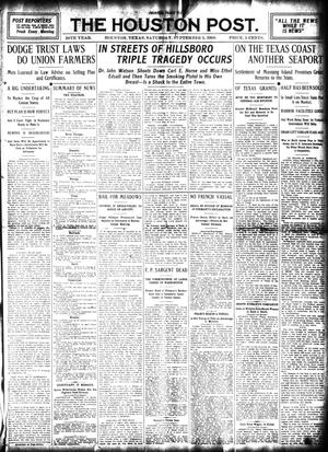 Primary view of object titled 'The Houston Post. (Houston, Tex.), Vol. 24, Ed. 1 Saturday, September 5, 1908'.