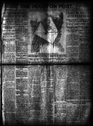 Primary view of object titled 'The Houston Post. (Houston, Tex.), Vol. 27, Ed. 1 Wednesday, February 14, 1912'.