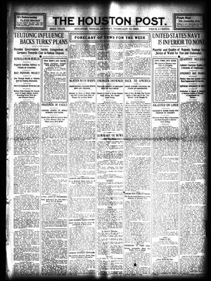 Primary view of object titled 'The Houston Post. (Houston, Tex.), Vol. 23, Ed. 1 Monday, February 17, 1908'.