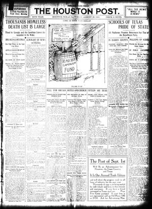 Primary view of object titled 'The Houston Post. (Houston, Tex.), Vol. 24, Ed. 1 Saturday, August 29, 1908'.
