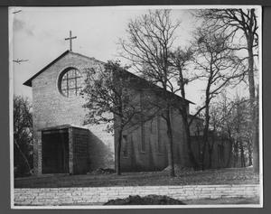 Primary view of object titled 'T. S. C. W. Chapel. Front and East Perspective.'.