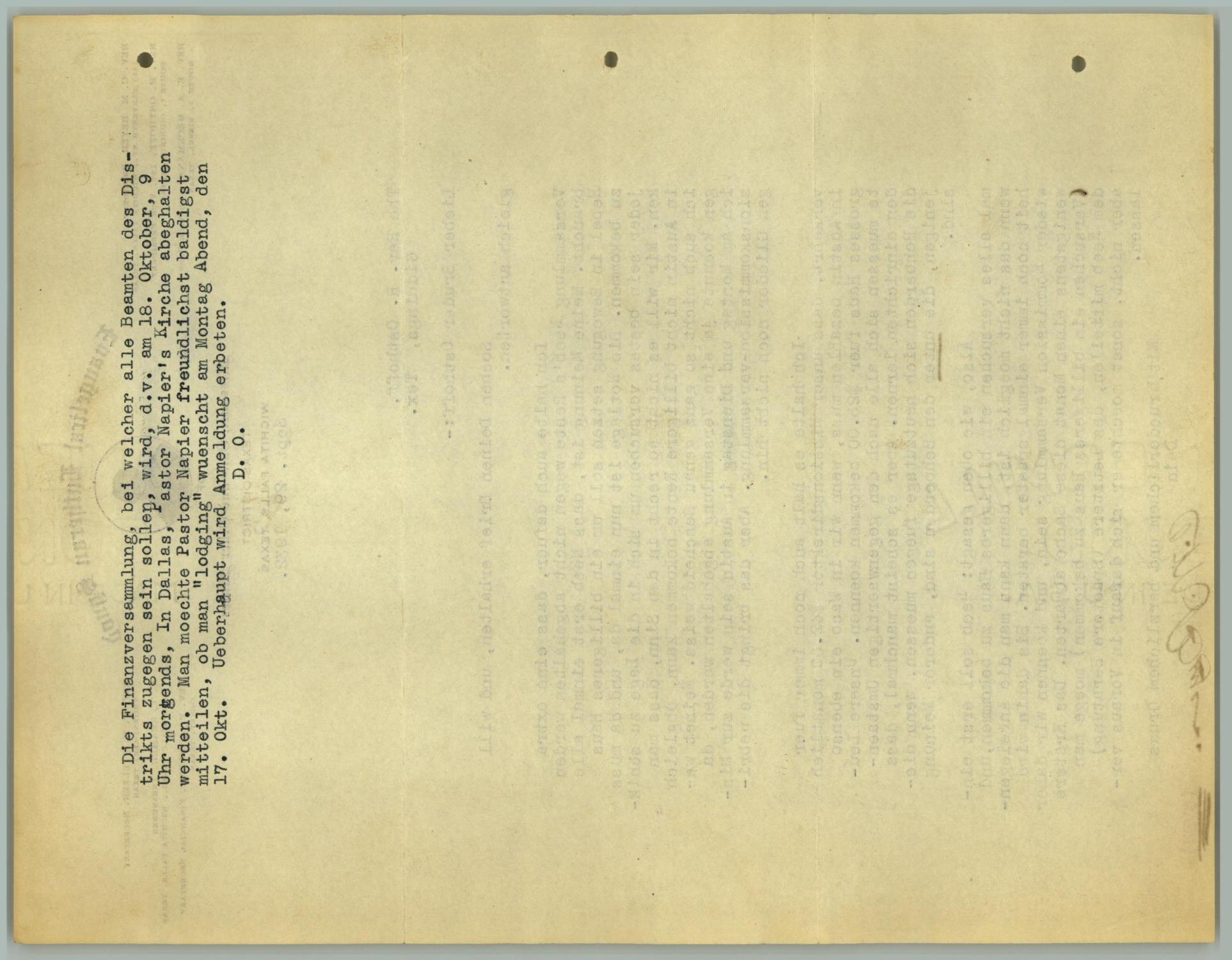 [Letter from C. M. Beyer to R. Osthoff, September 29, 1932]                                                                                                      [Sequence #]: 2 of 2