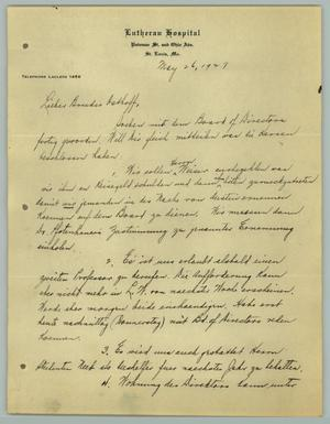 Primary view of object titled '[Letter from J. W. Behnken to R. Osthoff, May 26, 1927]'.