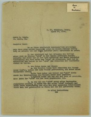 Primary view of object titled '[Letter from R. Osthoff to E. Seuel, March 22, 1927]'.