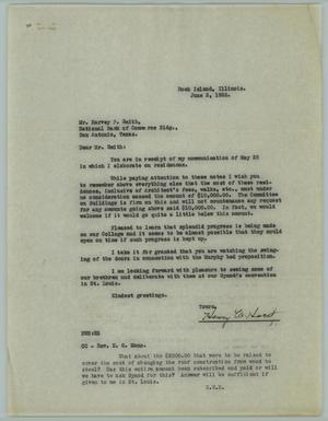 Primary view of object titled '[Letter from Henry W. Horst to Harvey P. Smith, June 2, 1926]'.