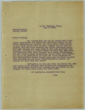 Primary view of object titled '[Letter from R. Osthoff to G. Viehweg, August 6, 1930]'.