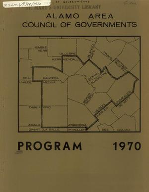 Primary view of object titled 'Alamo Area Council of Governments Program 1970'.