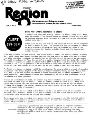 Primary view of object titled 'Region, Volume 7, Number 8, October 1980'.