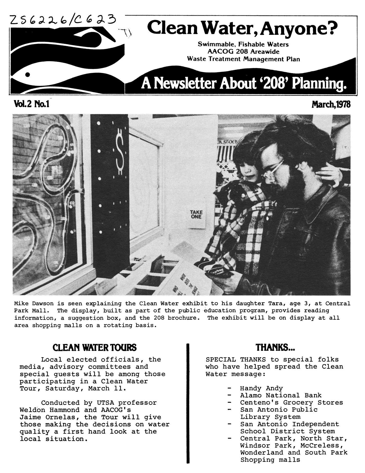 Clean Water, Anyone?, Volume 2, Number 1, March 1978 - The Portal to