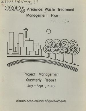 Primary view of object titled 'Areawide Waste Treatment Management Plan Quarterly Report: July - September 1976'.