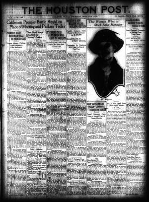Primary view of object titled 'The Houston Post. (Houston, Tex.), Vol. 35, No. 349, Ed. 1 Thursday, March 18, 1920'.