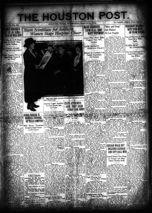 Primary view of object titled 'The Houston Post. (Houston, Tex.), Vol. 35, No. 362, Ed. 1 Wednesday, March 31, 1920'.