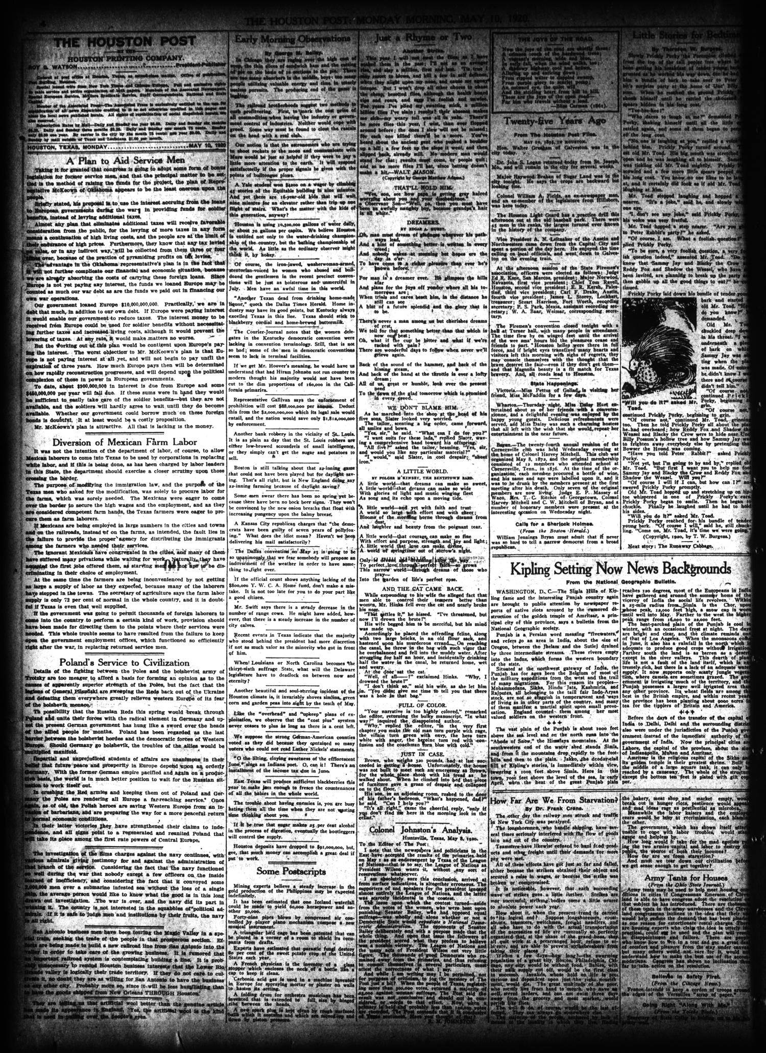 The Houston Post  (Houston, Tex ), Vol  30, No  37, Ed  1