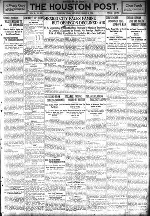 Primary view of object titled 'The Houston Post. (Houston, Tex.), Vol. 29, No. 337, Ed. 1 Saturday, March 6, 1915'.
