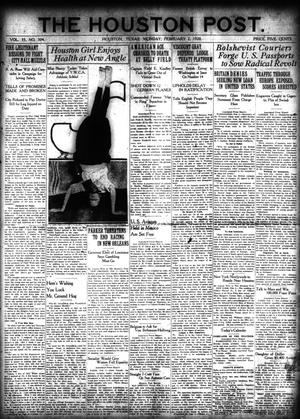 Primary view of object titled 'The Houston Post. (Houston, Tex.), Vol. 35, No. 304, Ed. 1 Monday, February 2, 1920'.