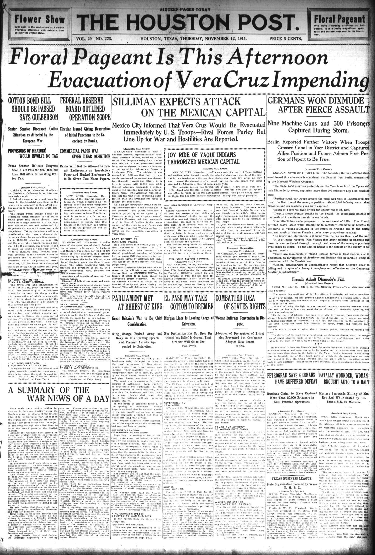 The Houston Post  (Houston, Tex ), Vol  29, No  223, Ed  1