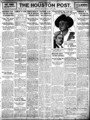 Primary view of The Houston Post. (Houston, Tex.), Vol. 29, No. 66, Ed. 1 Tuesday, June 9, 1914