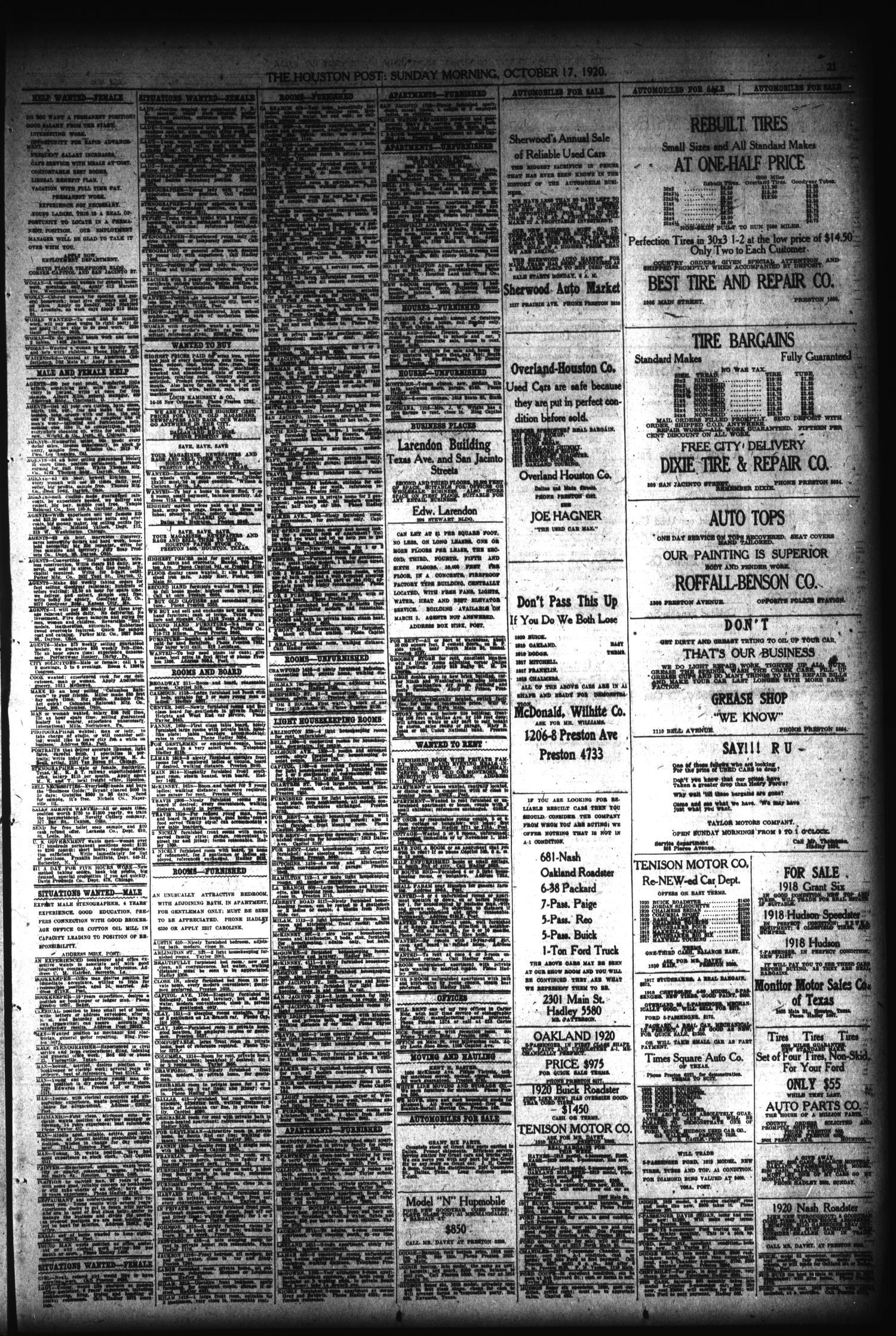 The Houston Post Houston Tex Vol 36 No 197 Ed 1 Sunday