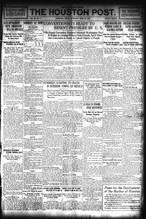 Primary view of object titled 'The Houston Post. (Houston, Tex.), Vol. 30, No. 77, Ed. 1 Saturday, June 19, 1915'.