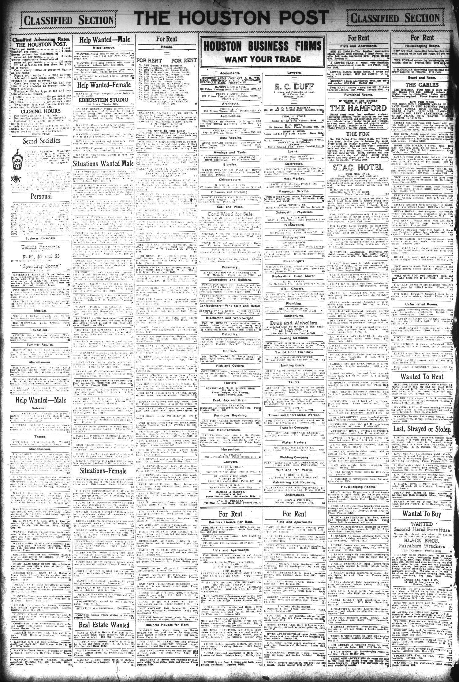 The Houston Post  (Houston, Tex ), Vol  30, No  226, Ed  1