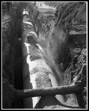 Primary view of object titled 'Laying Storm Sewers in Downtown Abilene'.