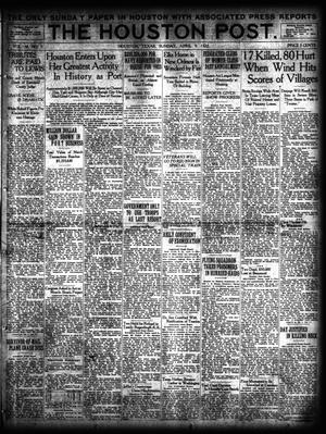 Primary view of object titled 'The Houston Post. (Houston, Tex.), Vol. 38, No. 5, Ed. 1 Sunday, April 9, 1922'.