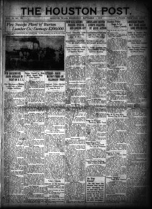 Primary view of object titled 'The Houston Post. (Houston, Tex.), Vol. 35, No. 152, Ed. 1 Wednesday, September 3, 1919'.