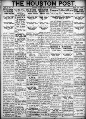 Primary view of object titled 'The Houston Post. (Houston, Tex.), Vol. 34, No. 337, Ed. 1 Friday, March 7, 1919'.