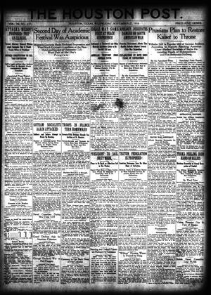 Primary view of object titled 'The Houston Post. (Houston, Tex.), Vol. 34, No. 237, Ed. 1 Wednesday, November 27, 1918'.