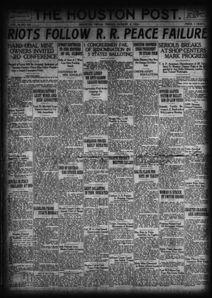 Primary view of object titled 'The Houston Post. (Houston, Tex.), Vol. 38, No. 122, Ed. 1 Friday, August 4, 1922'.