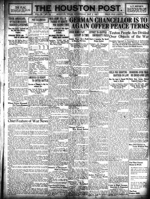 Primary view of object titled 'The Houston Post. (Houston, Tex.), Vol. 32, No. 28, Ed. 1 Wednesday, May 2, 1917'.