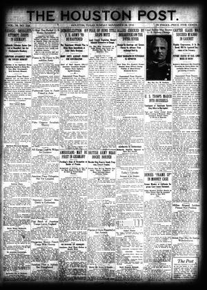 Primary view of The Houston Post. (Houston, Tex.), Vol. 34, No. 234, Ed. 1 Sunday, November 24, 1918