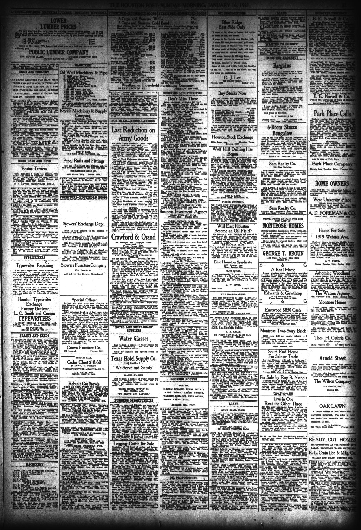 The Houston Post  (Houston, Tex ), Vol  36, No  288, Ed  1