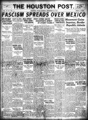 Primary view of The Houston Post. (Houston, Tex.), Vol. 38, No. 265, Ed. 1 Monday, December 25, 1922