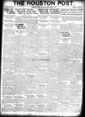 Primary view of object titled 'The Houston Post. (Houston, Tex.), Vol. 37, No. 245, Ed. 1 Monday, December 5, 1921'.