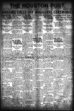 Primary view of object titled 'The Houston Post. (Houston, Tex.), Vol. 36, No. 283, Ed. 1 Tuesday, January 11, 1921'.