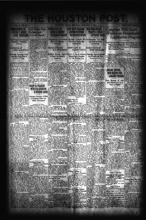 Primary view of object titled 'The Houston Post. (Houston, Tex.), Vol. 36, No. 275, Ed. 1 Monday, January 3, 1921'.