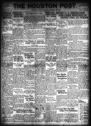 Primary view of object titled 'The Houston Post. (Houston, Tex.), Vol. 39, No. 159, Ed. 1 Monday, September 10, 1923'.