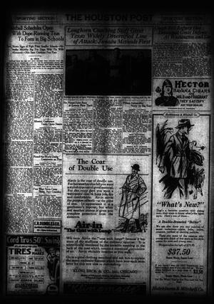 Primary view of object titled 'The Houston Post. (Houston, Tex.), Vol. 35, No. 191, Ed. 1 Sunday, October 12, 1919'.