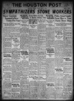 Primary view of object titled 'The Houston Post. (Houston, Tex.), Vol. 38, No. 94, Ed. 1 Friday, July 7, 1922'.