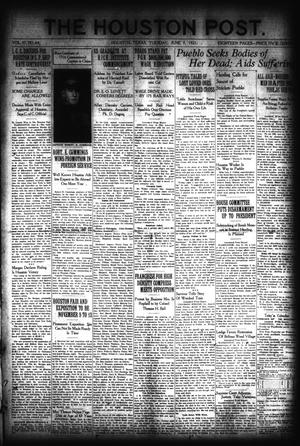 Primary view of object titled 'The Houston Post. (Houston, Tex.), Vol. 37, No. 64, Ed. 1 Tuesday, June 7, 1921'.