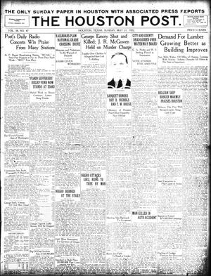 Primary view of object titled 'The Houston Post. (Houston, Tex.), Vol. 38, No. 47, Ed. 1 Sunday, May 21, 1922'.