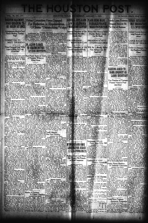 Primary view of object titled 'The Houston Post. (Houston, Tex.), Vol. 36, No. 277, Ed. 1 Wednesday, January 5, 1921'.