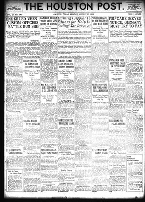 Primary view of object titled 'The Houston Post. (Houston, Tex.), Vol. 39, No. 145, Ed. 1 Monday, August 27, 1923'.