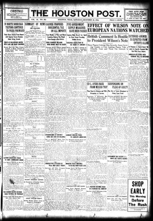 Primary view of object titled 'The Houston Post. (Houston, Tex.), Vol. 31, No. 263, Ed. 1 Saturday, December 23, 1916'.