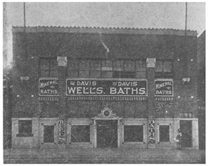 Primary view of object titled 'The Davis Wells; The Davis Baths'.